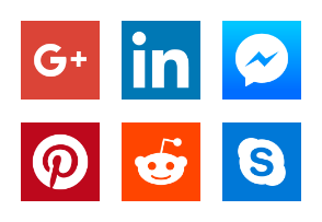 2018 Social media app logos