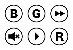 Round Media Remote Control Buttons Glyph
