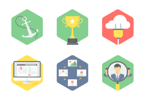 HEXAGON SEO & WEB DEVELOPMENT FLAT ICONS - Part 2