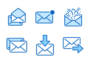 30px: Email - Blue line