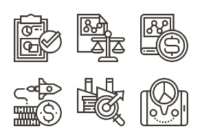 business finance icons iconfinder com