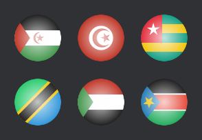 African glossy flags