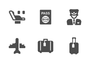 Airplane & Transportation Filled Style