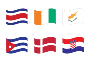 All national waving flags of the world - very high quality