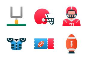 American Football (Flat Gradient)