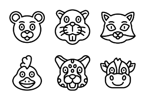 Animal Avatars - Outline