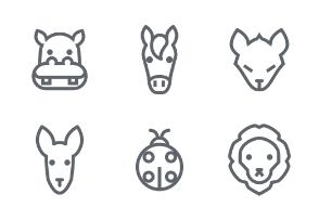 Animal Outline icons set