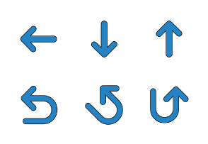 Arrows and Directions icons Set