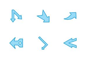 Arrows Blue Tone