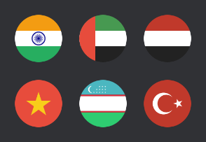 Asian Circular Flags