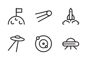 Astronomy and Space outline style