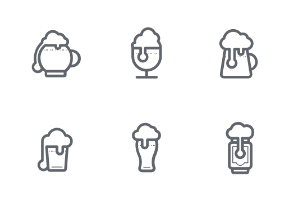 Beer icons BW