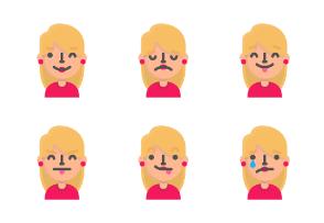 Blond emoji avatars