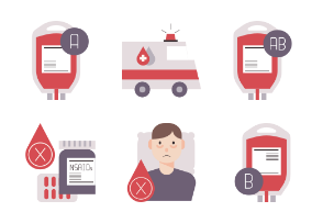 Blood donation Flat - Life saving voluntary