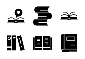 Book and Read Glyph Set