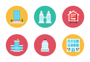 Building Icons - Rounded