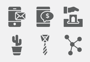 Business and Office Glyphs vol 5