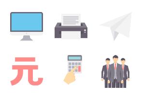 Business Conceptual Flat- set 2