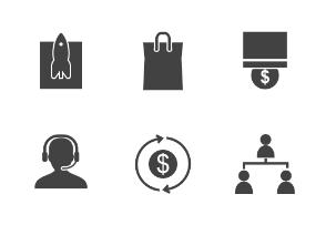 Business Management Glyph
