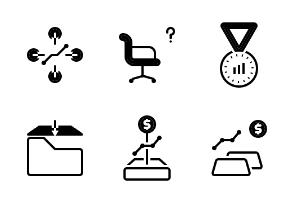 Business Team Work style glyph