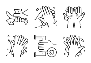Wash Hands - BZZRICON Outline