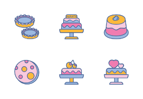 Cakes With Color Iconset