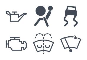 Car dashboard interface and indicators