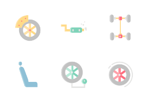 Car Service Without Outline Iconset