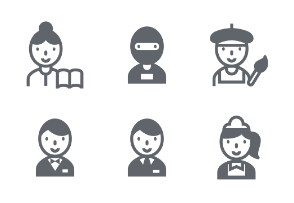 Career Fill icons set