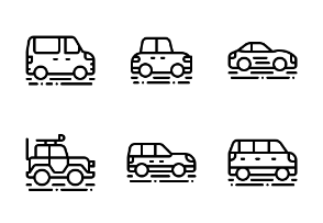 Cars Vehicle (Outline)