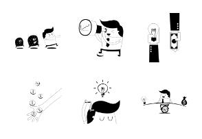 Cartoon Character Concept Illustrations