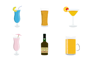 Casual and exotic alcohol drinks