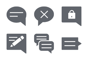 Chat Messages Glyphs vol 3