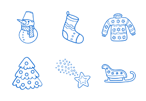 Christmas Hand Drawn Outline Collection