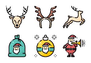 Christmas Santa Claus - Filled