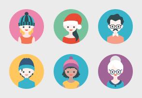 Flat avatars