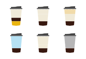 Coffee cups / Types of coffee