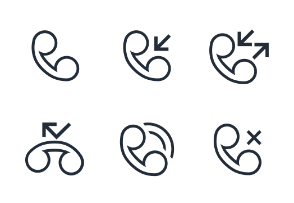 Collection Call Logs Icons