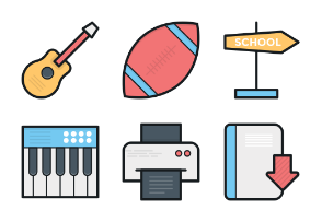 Colored Vector Icons 5