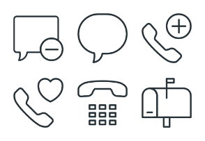 Communications - Stroke Icons