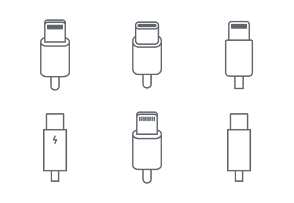 Connectivity collection - Thunderbolt, Lightning, USB-C (one line set)