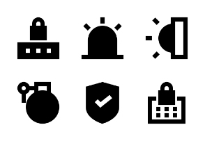 Crime and Security Glyph 24 px