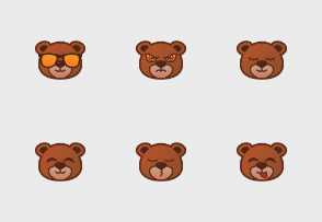 Cute Bear Emoticon