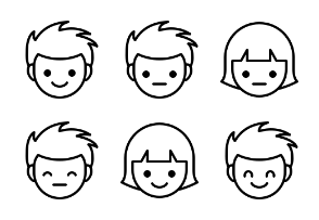 Outline Cutie Emotions