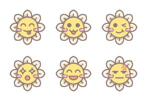 Daisy Flower Emoticon