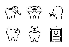 Dental Care LineArt