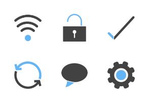 Mobile Apps Filled Blue & Black