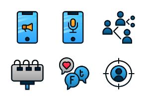 Digital Marketing (Filled Line Gradient)