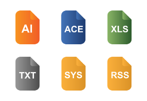 Document File Types Flat Color