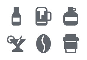 Drinks and Beverages (Glyph)